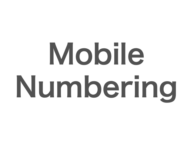 Mobile Numbering by Country